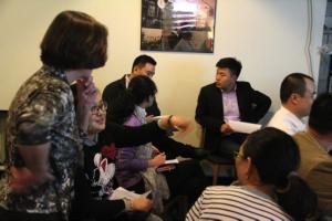 Lilian giving training in Dalian
